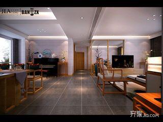 新中式风格大户型装修客餐厅过道