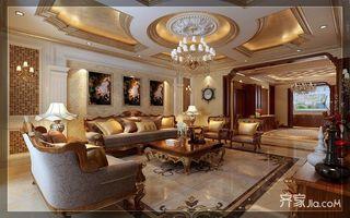 古典欧式豪华别墅客厅吊顶装修效果图