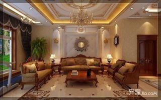 古典欧式豪华别墅起居室装修效果图