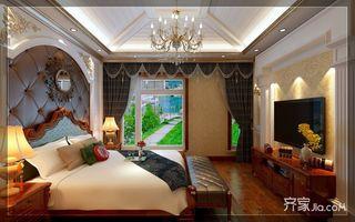 古典欧式豪华别墅装修卧室搭配图