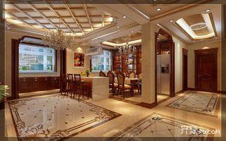 古典欧式豪华别墅餐厅装修效果图