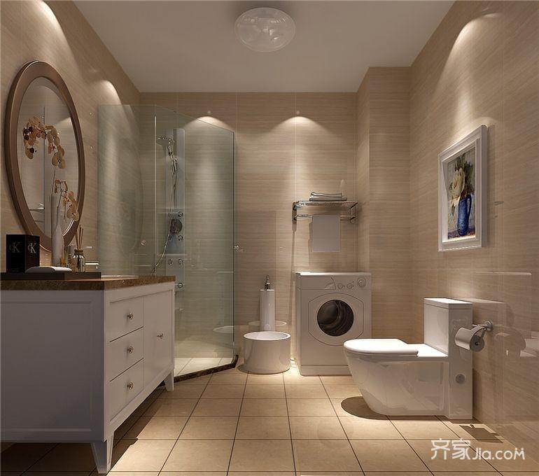 美式风格四居室卫生间装修效果图