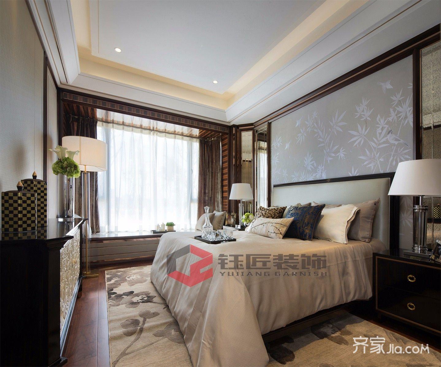 400平奢华风格别墅卧室装修效果图
