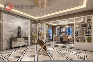 400平奢华风格别墅门厅装修效果图