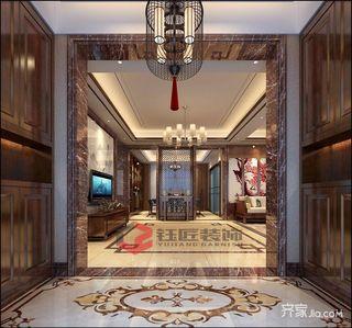 豪华新中式风格别墅玄关装修效果图