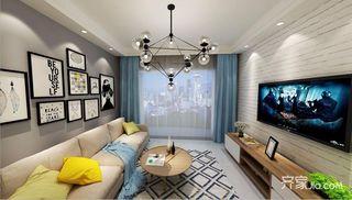 90平北欧风格两居装修效果图