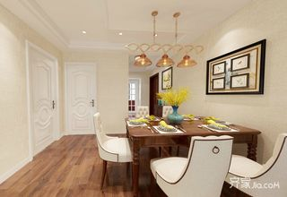 简约美式风格三居室餐厅装修效果图