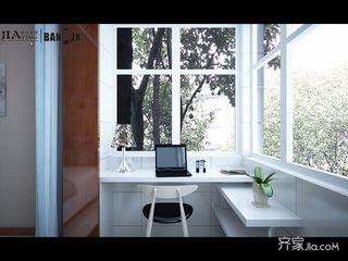 两居室现代简约风格装修阳台工作区