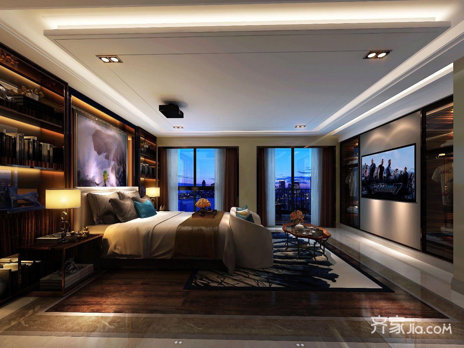 320平奢华欧式别墅卧室装修效果图