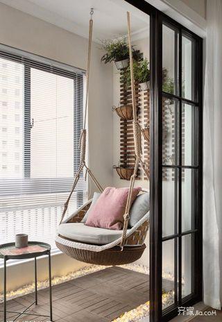 简约风格二居室装修阳台休闲一角