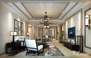 300平新中式风格客厅装修效果图