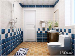 美式田园三居室卫生间装修效果图