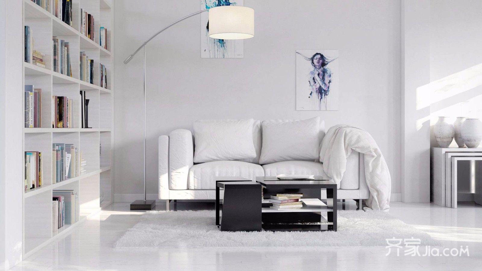 130平米简约风格客厅装修设计图