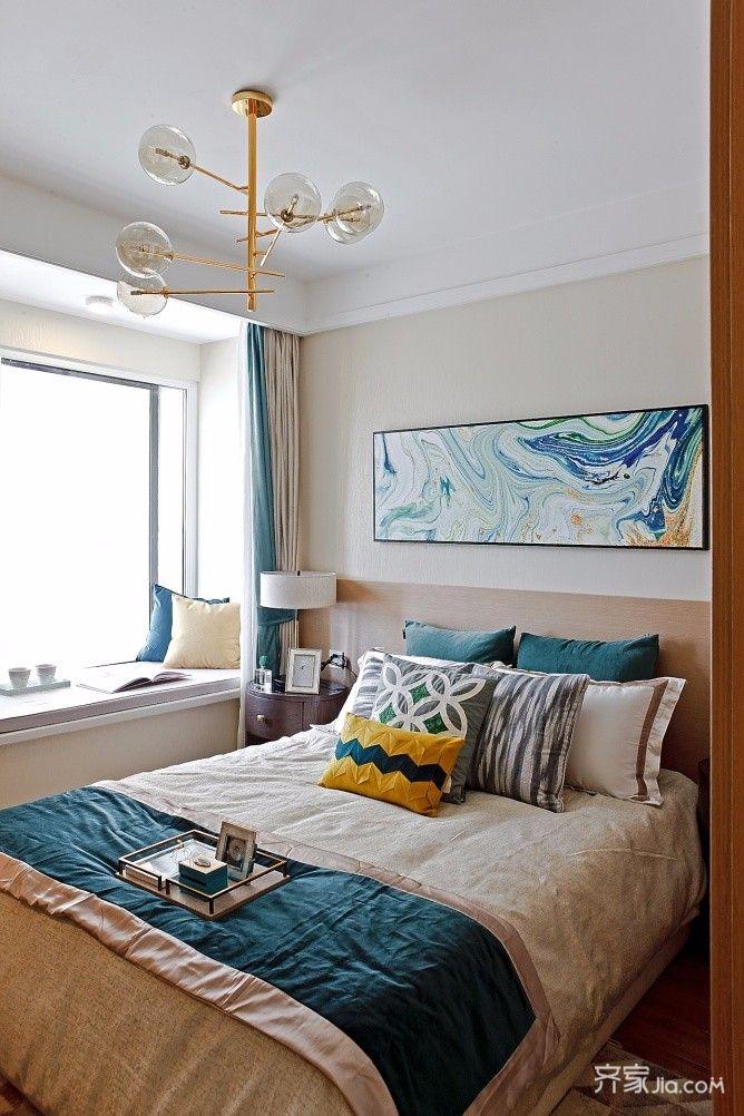 三居室混搭风格装修卧室搭配图