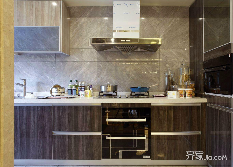 简约中式三居装修厨房设计图