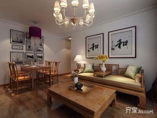110平中式风格三居客厅装修效果图
