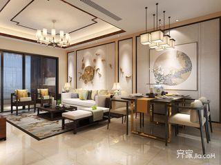 80㎡新中式风格二居餐厅装修效果图