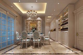 136平欧式风格三居餐厅装修效果图