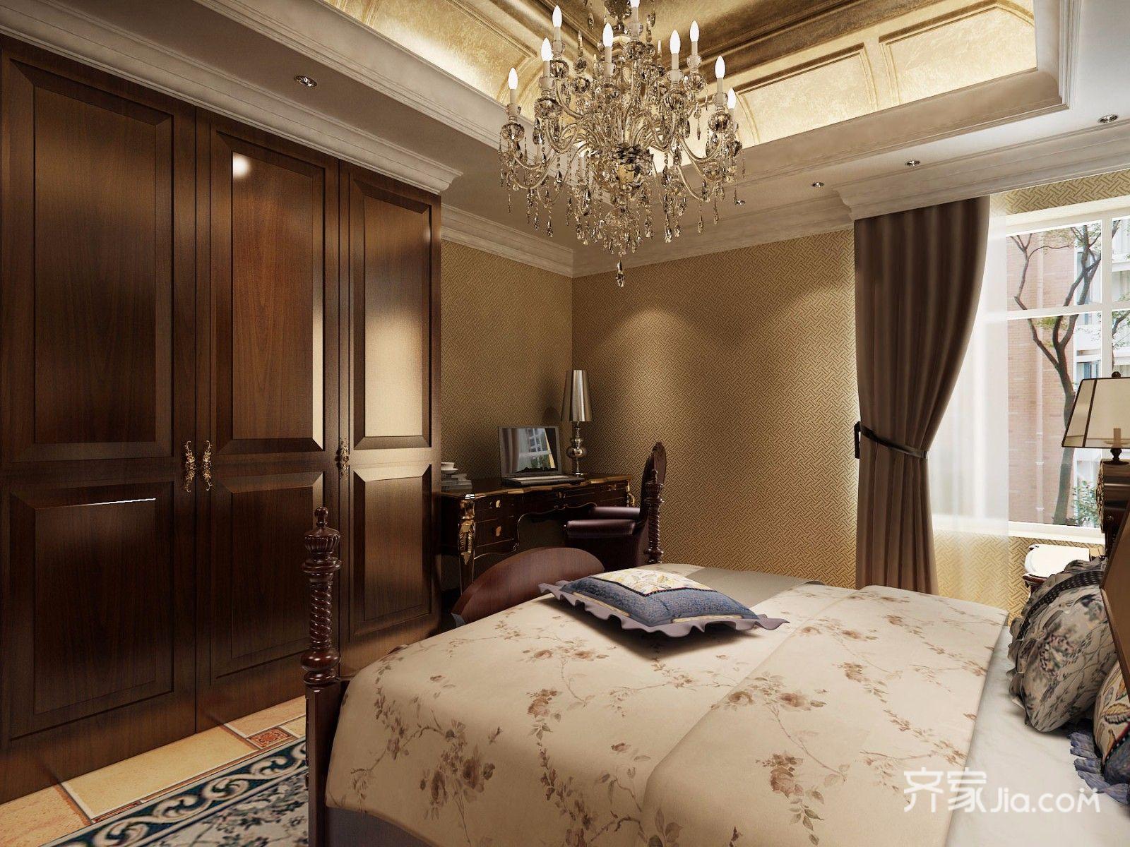 134平米欧式三居卧室装修效果图