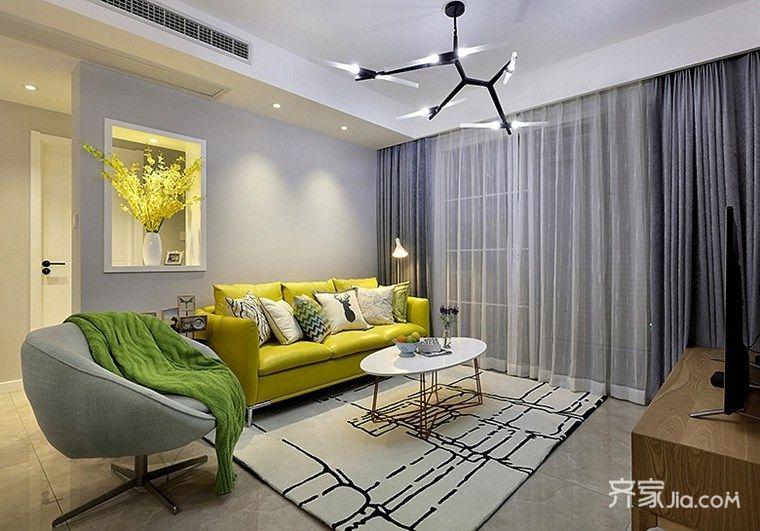 100平宜家风格二居客厅装修效果图