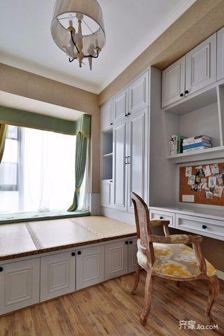 简约美式风格三居装修榻榻米设计图