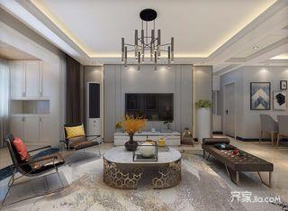 135平米混搭风格客厅装修效果图