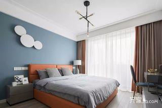 130㎡简约三居卧室装修设计效果图