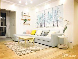 120平三居北欧风格客厅装修效果图