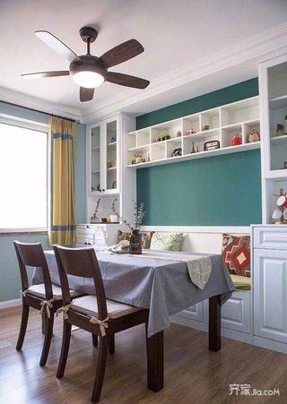 105平美式三居室装修餐厅设计图