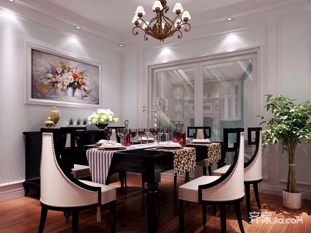 180平美风格四房餐厅装修效果图