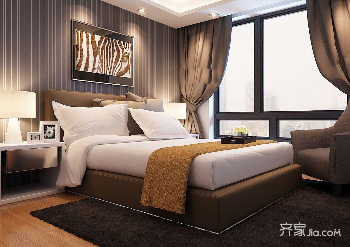 现代风格复式装修卧室效果图