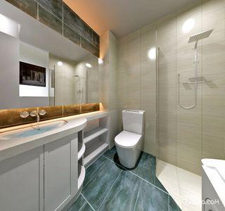 140平简欧风格三居卫生间装修效果图
