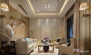 混搭风格复式别墅客厅装修效果图