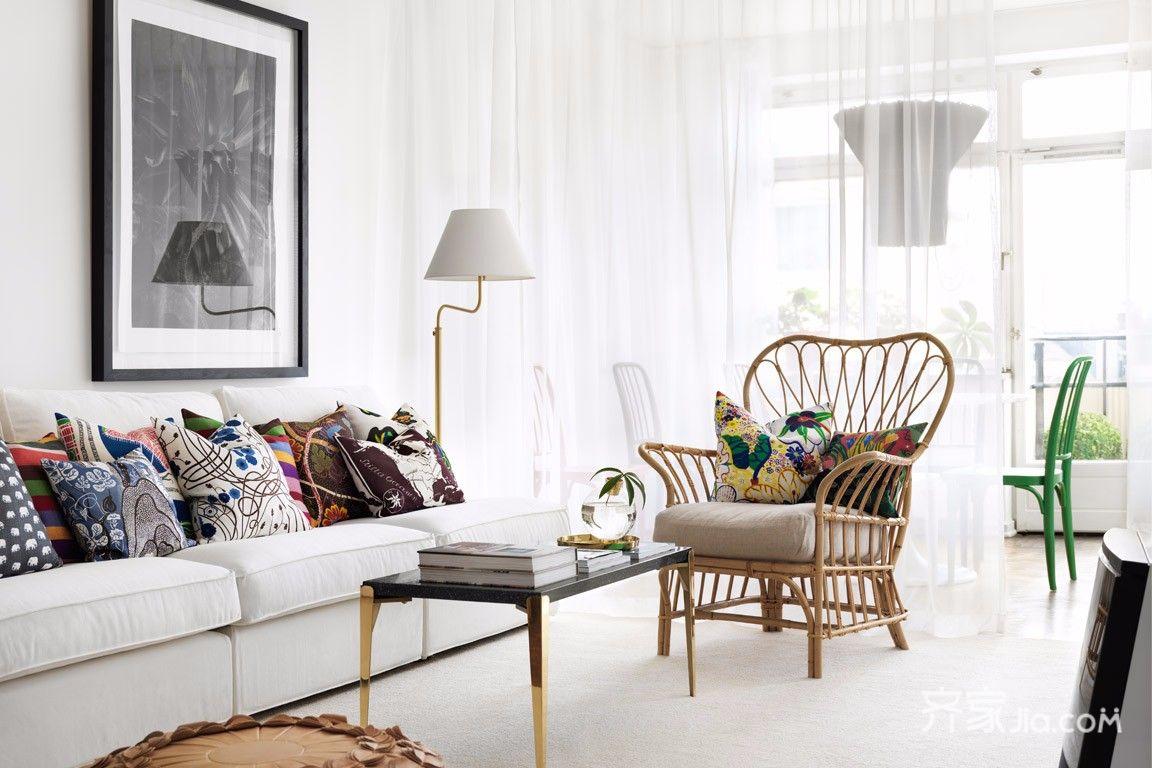 小户型简约风格装修客厅设计图