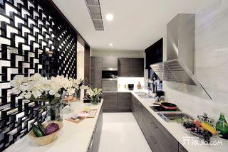 130平中式风格三居厨房装修效果图