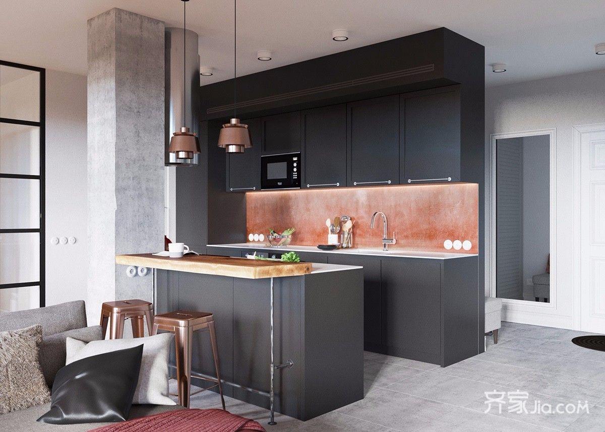 96平北欧宜家风格厨房装修效果图