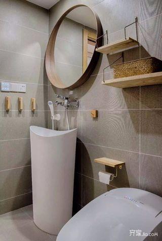110平米日式风格装修卫生间搭配图