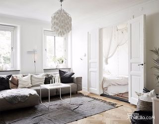 北欧宜家风二居客厅装修设计效果图