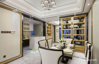 现代中式三居餐厅装修设计效果图