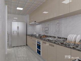 145平简约风格三居厨房装修效果图