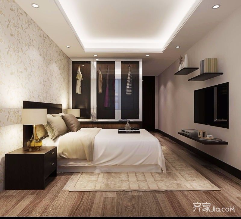 140平新中式风格卧室装修设计图