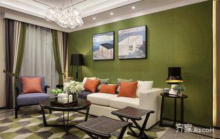 108㎡现代风格三居沙发背景墙装修效果图