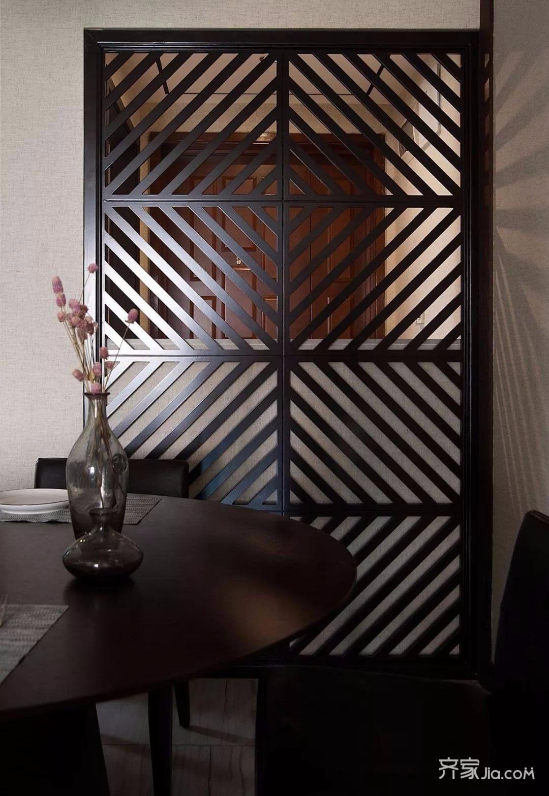 新中式风格三居装修餐厅背景墙效果图