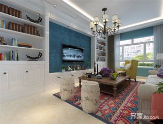 100㎡现代简约二居客厅装修效果图