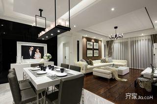 130㎡现代风格三居室装修效果图