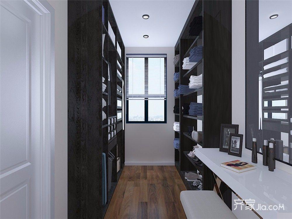 现代风格三居室衣帽间装修设计效果图