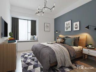 138平米简约风格卧室装修效果图