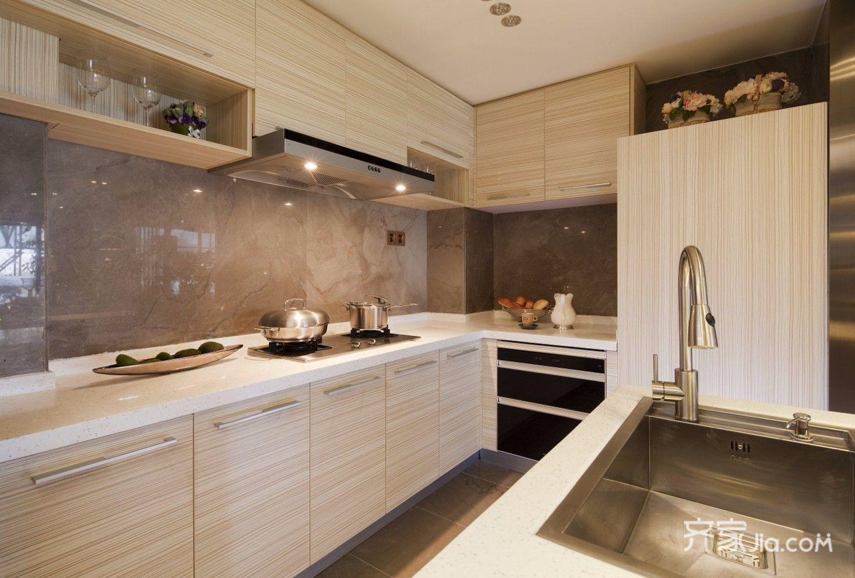 108平现代简约三居厨房装修设计图
