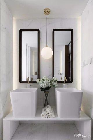 140平混搭风格卫生间装修设计效果图