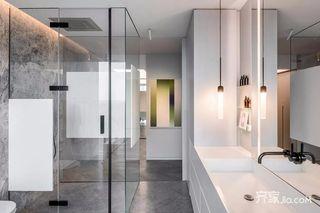 大户型高级灰空间装修卫生间设计图